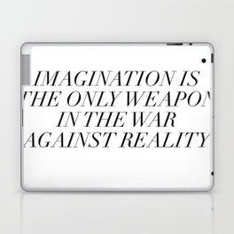imagination is the only weapon Laptop & iPad Skin