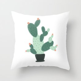 Cute Cactus Throw Pillow