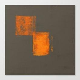 Gray Orange #18 Canvas Print