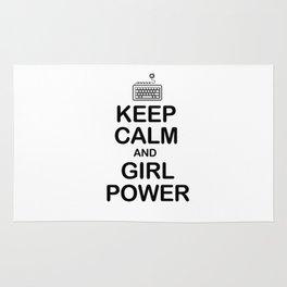 Keep calm and girl power Rug