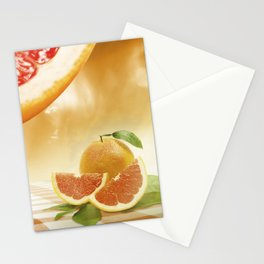 "Dancing Food ""Grapefruit"" Stationery Cards"