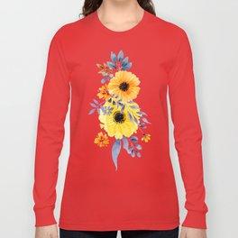 FLOWERS WATERCOLOR 10 Long Sleeve T-shirt
