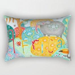 Colorful fantasy animals in Africa Rectangular Pillow