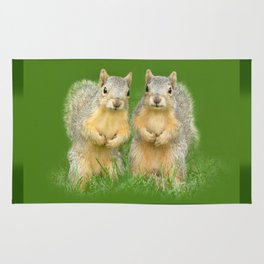 Squirrels-Brothers Rug