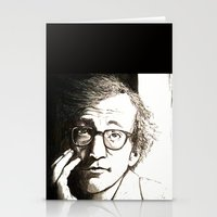 woody allen Stationery Cards featuring Woody Allen by Frances Roughton