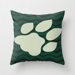 Ohio University Chevron Bobcat Paw Throw Pillow