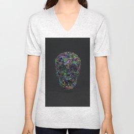 Skull Low-Poly Color Unisex V-Neck