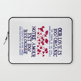 100% Organic Love Laptop Sleeve