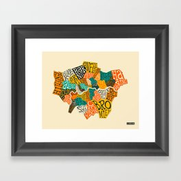 LONDON BOROUGHS Framed Art Print