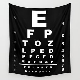 Inverted Eye Test Chart Wall Tapestry