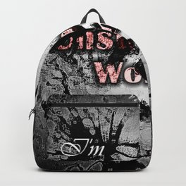 Unstoppable women abstract deep paint with an affirmation for motivation Backpack