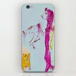 Girls, bird, dog iPhone Skin