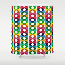 Geometric Pattern 64 (colorful bubbles) Shower Curtain