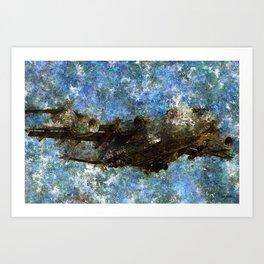 Grunge Dynamics 061 C17 Globemaster Art Print