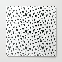 black and white Scandinavian Nursery Prints patterns Metal Print