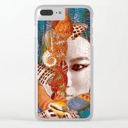 Mermaid Mystery Clear iPhone Case