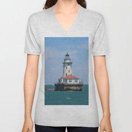 Chicago Harbor Lighthouse Unisex V-Neck