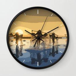 Salt Harvest in Abstract Art Wall Clock