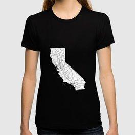 California White Map T-shirt