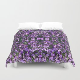 SPANISH LAVENDER AND ONE BEE Duvet Cover