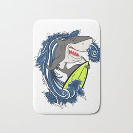 Surfer Shark Bath Mat