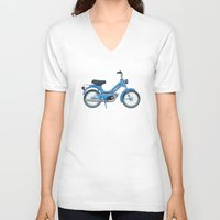 motorbike V-neck T-shirts featuring Motorbike Automatic 3 MS - Tomos by Jus Project