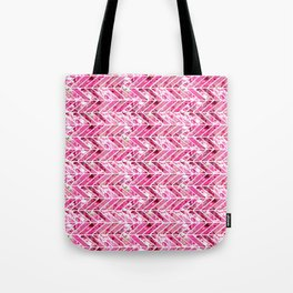 Cherry Bomb Chevron Tote Bag