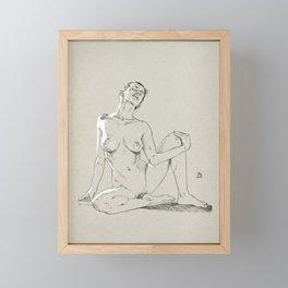 Model pose sketch 01 Framed Mini Art Print