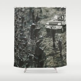 Arrival at the Colony Shower Curtain
