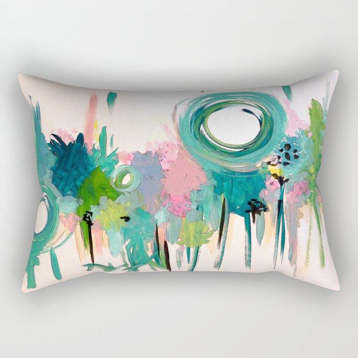 Monday in the Garden Rectangular Pillow