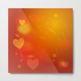 Abstract red Heart. Valentine's day card Metal Print