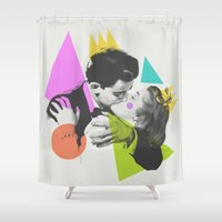 kiss Shower Curtains featuring Kiss by Zeke Tucker