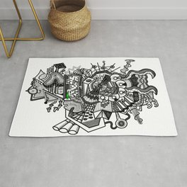 Abstract Alien World Rug