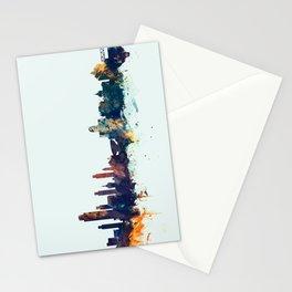 Albany New York Skyline Stationery Cards