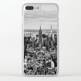 where dreams are made of (black and white) Clear iPhone Case