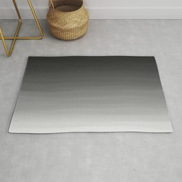 Black and White Haze Abstract Ombre Rug