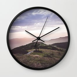 good morning mountains Wall Clock