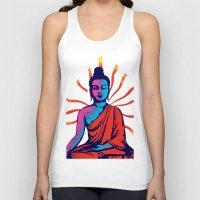 buddha Tank Tops featuring Buddha by famenxt