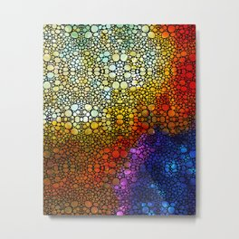 Colorful Stone Rock'd Abstract Art By Sharon Cummings Metal Print
