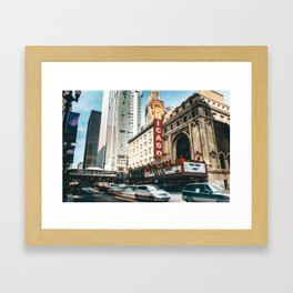 chicago strret Framed Art Print
