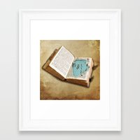 pocket Framed Art Prints featuring pocket pool by Vin Zzep