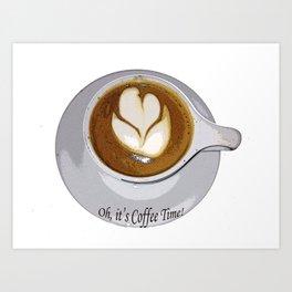 Kitchen Decor Coffee Time Art Print
