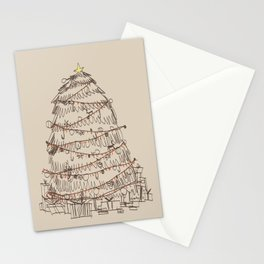 chirstmas tree Stationery Cards