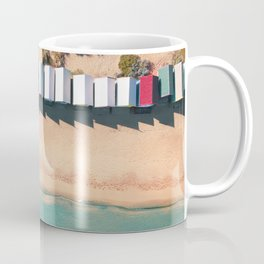 Brighton Beach Bathing Boxes Melbourne From Above Coffee Mug