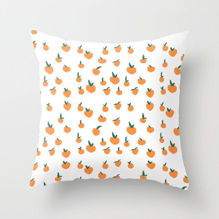 Orange Peaches Deko-Kissen