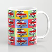 mini cooper Mugs featuring mini cooper by Pedro Vale