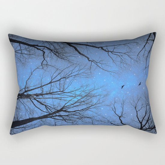A Certain Darkness Is Needed (Night Trees Silhouette) Rectangular Pillow