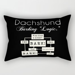 Barking is the Option Rectangular Pillow