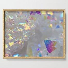 Aurora Borealis Crystals Serving Tray