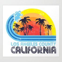 Los Angeles California Vintage Art Print
